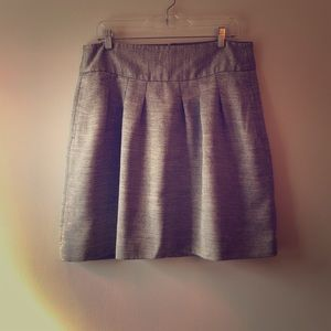 The Limited Wide-Band Bubble Skirt in Gray